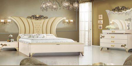 سرویس خواب لاکچری روشا | قیمت و خرید انواع تخت خواب| فروشگاه اینترنتی ماکا چوب در کرج