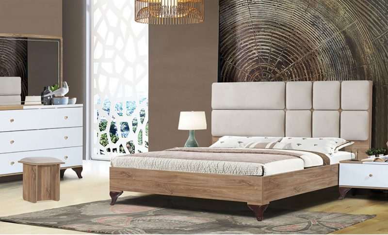 سرویس خواب شیک آرنا | قیمت و خرید انواع تخت خواب| فروشگاه اینترنتی ماکا چوب در کرج
