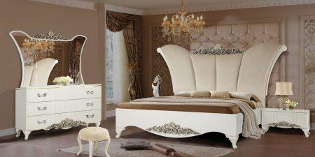 سرویس خواب عروس آرشا | قیمت و خرید انواع تخت خواب جهیزیه | فروشگاه اینترنتی ماکا چوب