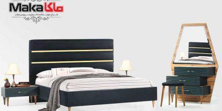 تخت خواب دو نفره شیک | قیمت خرید و مشخصات تخت دو نفره ویستا | تولیدی تختخواب ماکا چوب