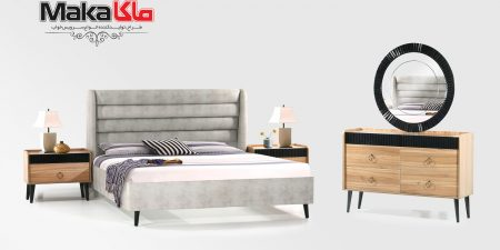 مشخصات قیمت و خرید سرویس خواب چوبی شیک | ولیدی تخت خواب ماکا چوب