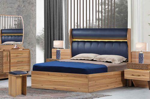 تخت خواب چوبی دو نفره | فروشگاه اینترنتی سرویس چوبی و تخت خواب ماکاچوب